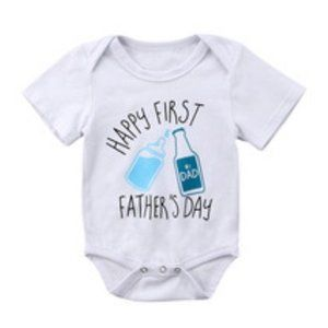 🌊 Happy First Father's Day Onesie